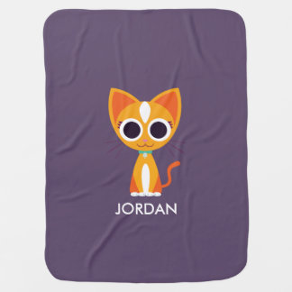 Purrl the Cat Baby Blanket