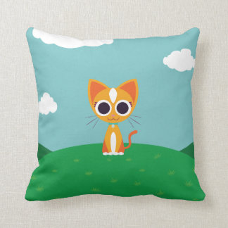 Purrl the Cat Cushion