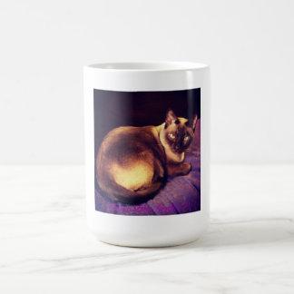 Purrple Cat Basic White Mug