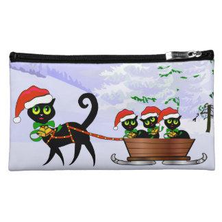 Purrr-fect Christmas Kittens Makeup Bags