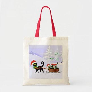 Purrr-fect Christmas Kittens Bag