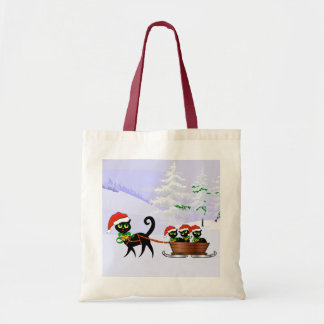 Purrr-fect Christmas Kittens Budget Tote Bag