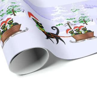 Purrr-fect Christmas Kittens Wrapping Paper