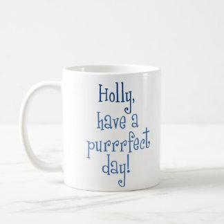 Purrrfect Holly Day Mug