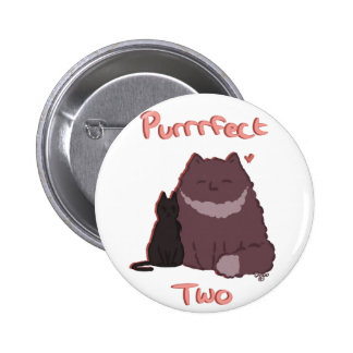 Purrrfect Two 6 Cm Round Badge