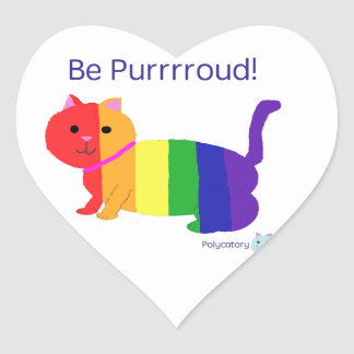 PurrroudCat Heart Sticker