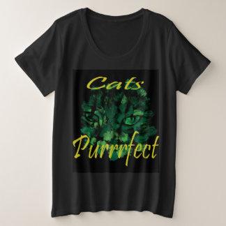 Purrrrfect Cat And Logo, Plus Size T-Shirt
