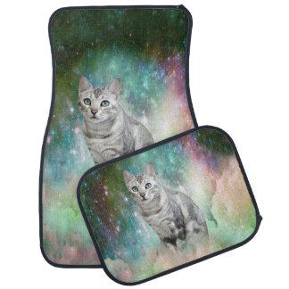 Purrsia Kitty Cat in the Emerald Nebula of Innocen Car Mat