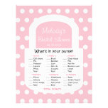 Purse Bridal Shower Game - Pink Flyers