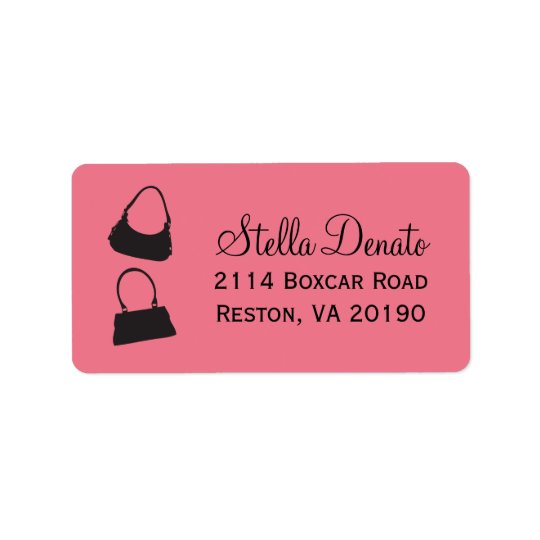 Purses Address Labels - Dark Pink