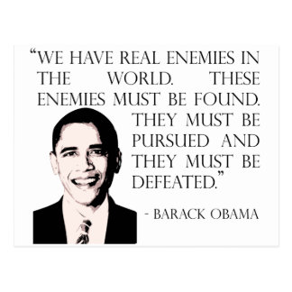 Pursue and defeat our enemies, Barack Obama Postcard