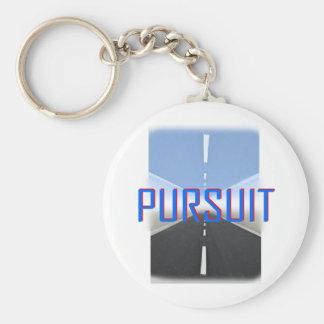 pursuit basic round button key ring