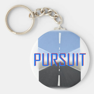 pursuit basic round button key ring