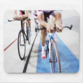 Pursuit cycling team in action mouse mat