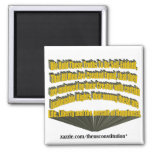 Pursuit of Happiness 3D Yellow Square Magnet