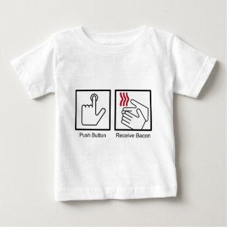 Push Button, Receive Bacon - Bacon Dispenser Baby T-Shirt