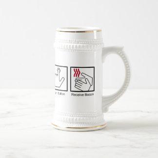 Push Button, Receive Bacon - Bacon Dispenser Mugs