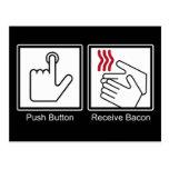 Push Button, Receive Bacon - Bacon Dispenser Post Card