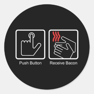 Push Button Receive Bacon - Bacon Dispenser Stickers
