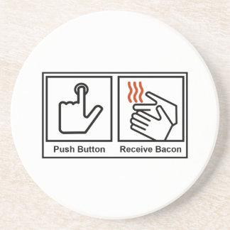 Push Button, Receive Bacon Coaster