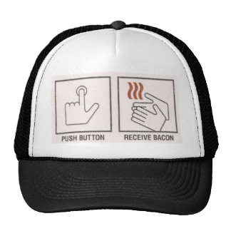 Push Button, Receive Bacon Mesh Hat