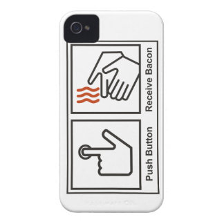 Push button, Receive Bacon iPhone 4 Case-Mate Case