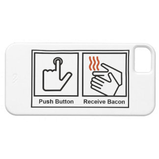 Push Button, Receive Bacon iPhone 5 Cover