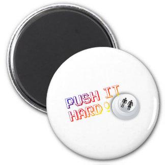 Push It Hard - Arcade Button Video Game Gamer Magnet
