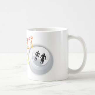 Push It Hard - Arcade Button Video Game Gamer Coffee Mugs