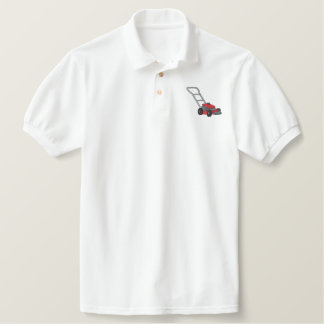 Push Mower Embroidered Shirts