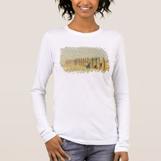Pushing in the Poles, c.1882 (oil on canvas) Long Sleeve T-Shirt