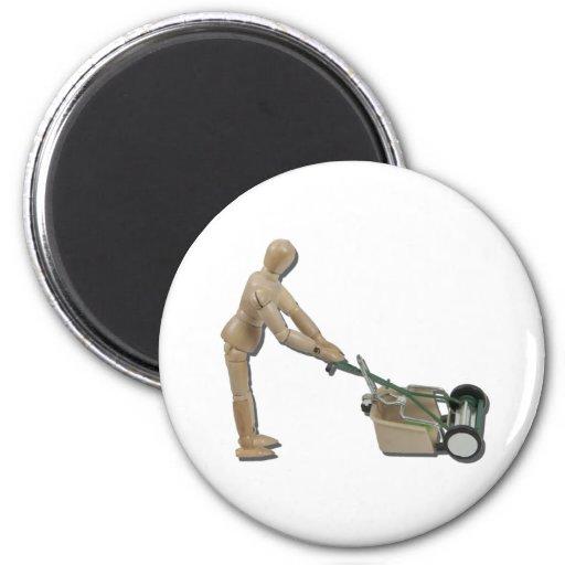 PushingLawnMower073011 Fridge Magnets