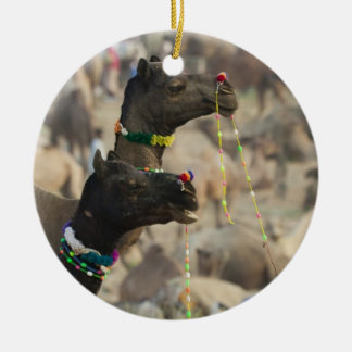 Pushkar Camel Fair, Pushkar, Rajasthan, India Christmas Ornament