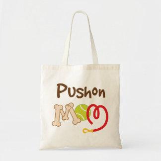 Pushon Dog Breed Mom Gift Budget Tote Bag