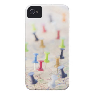 Pushpins in a map 2 iPhone 4 Case-Mate case