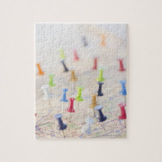Pushpins in a map 2 jigsaw puzzle