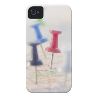 Pushpins in a map iPhone 4 case