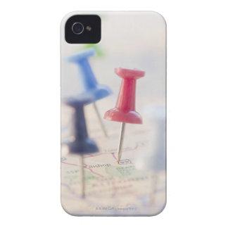Pushpins in a map iPhone 4 Case-Mate case