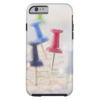 Pushpins in a map tough iPhone 6 case