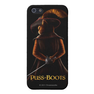 Puss In Boots Blk iPhone 5/5S Covers