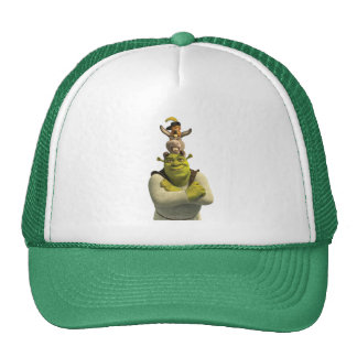 Puss In Boots, Donkey, And Shrek Cap