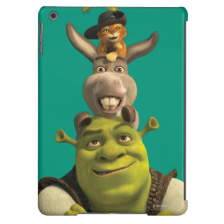 Puss In Boots, Donkey, And Shrek Case For iPad Air