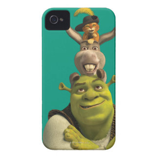 Puss In Boots, Donkey, And Shrek Case-Mate iPhone 4 Case