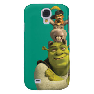 Puss In Boots, Donkey, And Shrek Galaxy S4 Case