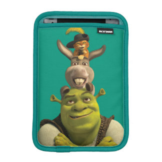 Puss In Boots, Donkey, And Shrek iPad Mini Sleeve