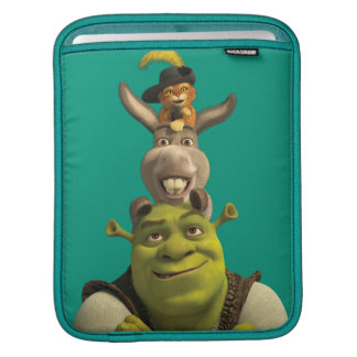 Puss In Boots, Donkey, And Shrek iPad Sleeve