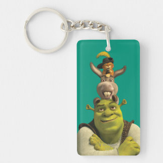 Puss In Boots, Donkey, And Shrek Key Ring
