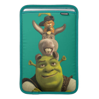 Puss In Boots, Donkey, And Shrek MacBook Air Sleeves