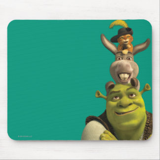 Puss In Boots, Donkey, And Shrek Mouse Mat