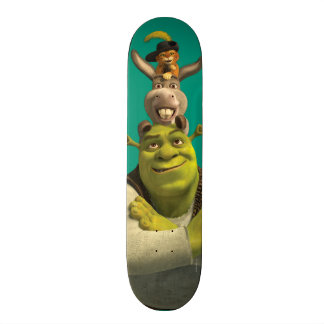 Puss In Boots, Donkey, And Shrek Skate Decks
